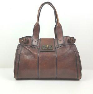 FOSSIL|Large Dark Brown Sachel Shoulder Bag